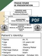 Typhoid Case Presentation