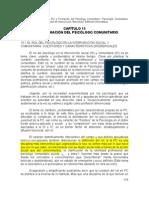 Sanchez Vidal. Rol y Formacion Del Psicologo Comunitario