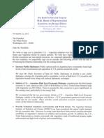Carta de representantes demócratas a Barack Obama