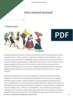 La Cueca y La Estética Musical Nacional