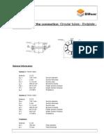 Circular Tube End Plate Calculation