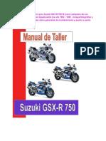 SuzukiGSX-R750W modelo1992-1995manual de taller