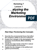Marketing 7 Lecture 1 Analyzing the Marketing Environment