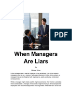 When Managers Are Liars