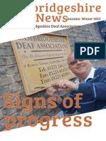 Cambridgeshire Deaf News Autumn Winter 2015