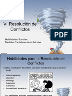 VI Resolución de Conflictos