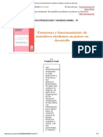 Estructura y Funcionamiento de Mataderos Medianos