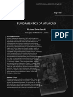Fundamentos Da Atuação - Richard Boleslavski