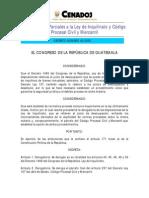 Derogatorias Parciales Ley del Inquilinato Guatemala