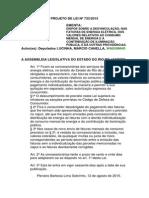 Projeto de Lei n 733-2015
