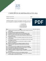 Coeficiente de Sistematización (SQ)