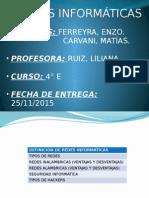 Redes Informáticas. Ferreyra - Carvani
