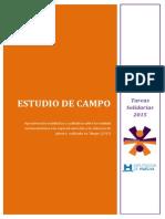 Estudio de Campo Tareas Solidarias 2015
