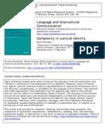 Language and Intercultural Communication