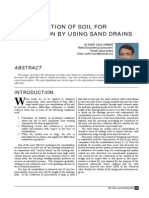 Consolidation of Soil for Foundation by Using Sand Drains