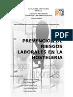 Prevencion de Riesgos Laborales. Hosteleria