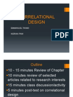 Best!!Correlation Research Design Presentation Kieran and Emmanuel