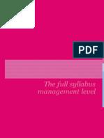 CIMA Management Level Syllabus