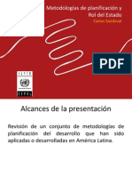 Metodologías de Planificación y Rol Del Estado