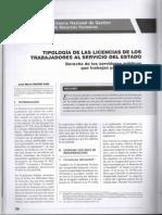 Tipologia de Las Licencias de Los Trabajadores Al Servicio Del Estado - José María Pacori Cari