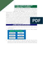 Sistema en Excel Para Controlar Vehículos