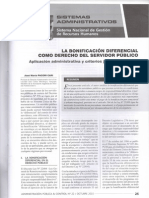 La Bonificación Diferencial Como Derecho Del Servidor Público - José María Pacori Cari