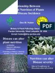 nutricion vegetal e incidencia de enfermedades en plantas