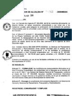RESOLUCION DE ALCALDIA 163-2009/MDSA