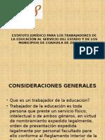 Estatuto Jurídico Para Los Trabajadores de La Educación Presentacion (1)