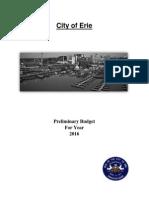 City of Erie 2016 Preliminary Budget