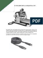 Manual de Usuario de La Máquina Cnc