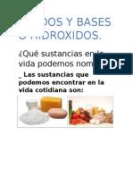 Acidos y Bases o Hidroxidos