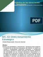 Estructura Orgánica de La Direccion Distrital