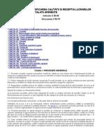 Normativ Pentru Verificarea Calitătii Si Receptia Lucrărilor de Constructii Si Instalatii Aferente