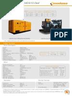 Planta Electrica Modasa p222 Oficity de 600kw