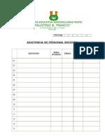 Formatos Asistencia Docentes y Adminstrativos