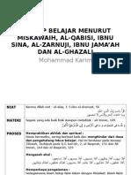 Konsep Belajar Menurut 5 Tokoh Islam by P Karim