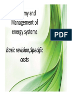 Economy and Management of energy systems