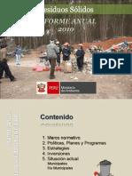 Informe anual de residuos sólidos 2010 Seminario Internacional.ppt