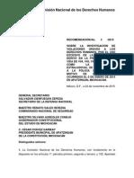 Recomendación CNDH sobre Apatzingán