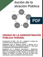 Evolución de la Administración Pública en México