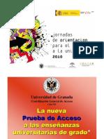 Acceso a la Universidad desde el Bachillerato (Presentación elaborada por la UGRA)