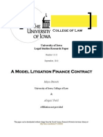 Litigation Finance Model Contract