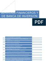 Servicios Financieros y de Banca de Inversion a Incluir en La Web Equity