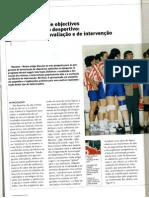 A Formulação de Objectivos e o Rendimento Desportivo - Sugestões de Avaliação e de Intervenção