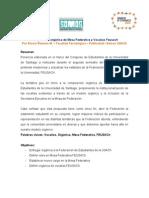 Composición Orgánica de mesa federativa y Vocalías FEUSACH