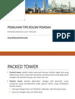 Kolom Pemisah Packed Tower