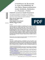 Fórum Caririense de Economia Solidária - Relato de Prática