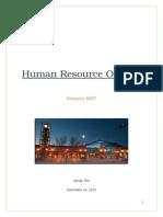 human resource outline