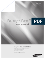 Samsung BD-5900 BluRay Player User Manual